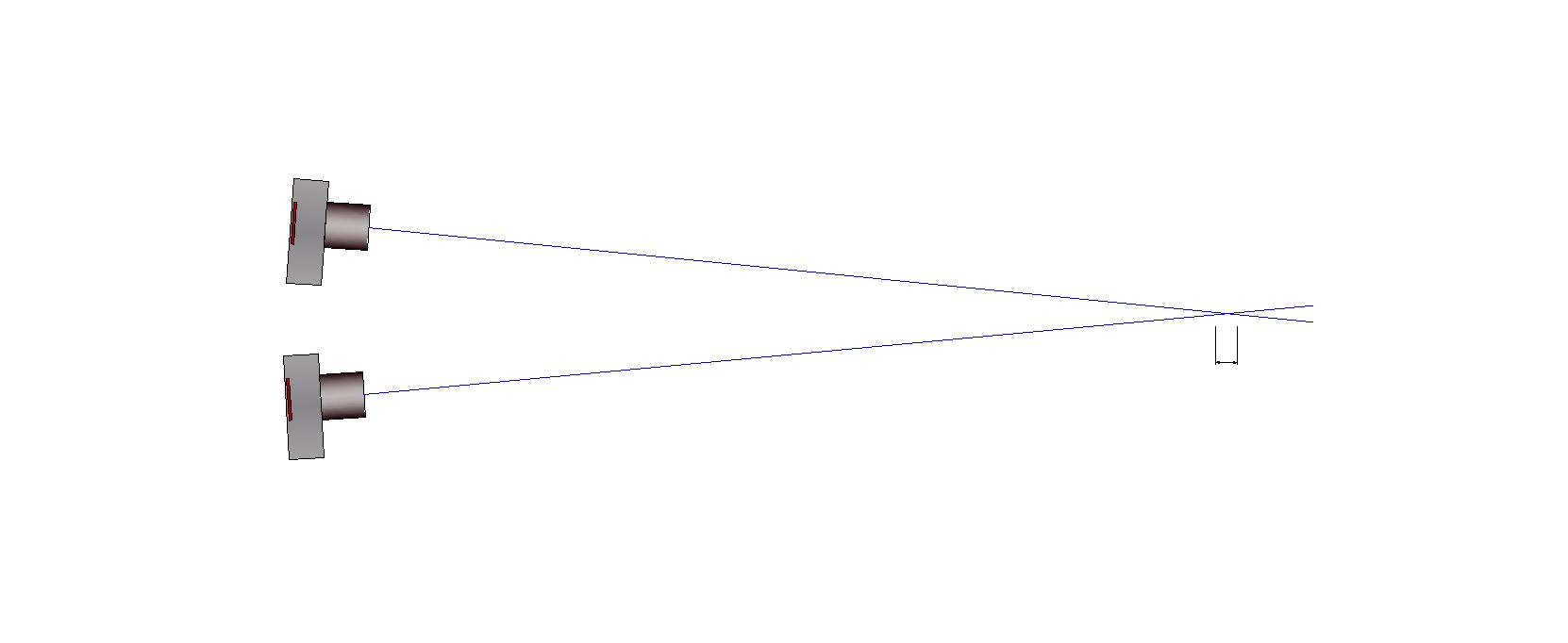 Strahlenschnitt zweier Bildmessungen